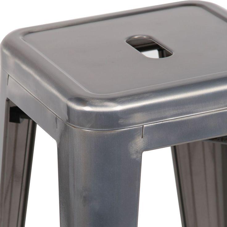 Taburete HIGHT URAL -Metal Cepillado- (Taburetes) - Tolix H Sillas de diseño, mesas de diseño, muebles de diseño, Modern Classics, Contemporary Designs...