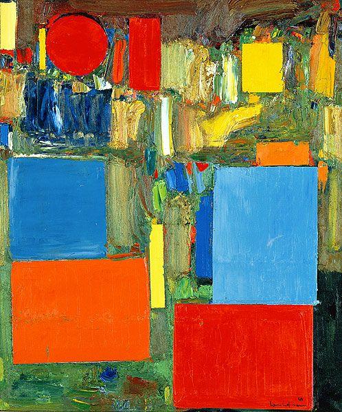 Hans Hoffman abstract art.