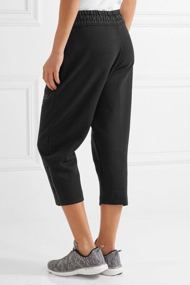 Nike - Tech Fleece Cropped Shell-trimmed Cotton-blend Track Pants - Black - x small