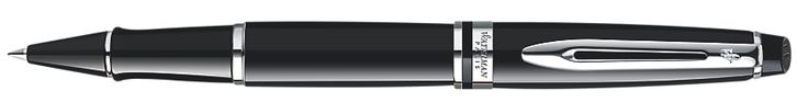 Waterman Expert Black Lacquer Chrome Trim Rollerball