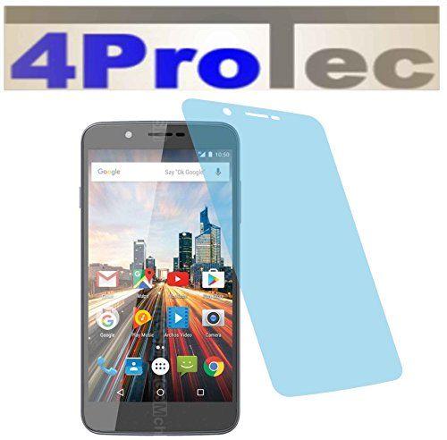 2 Stück HARTBESCHICHTETE KRISTALLKLARE Displayschutzfolie für Archos 55 Helium Ultra Bildschirmschutzfolie - http://uhr.haus/4protec/archos-50f-helium-entspiegelt-schutzfolien