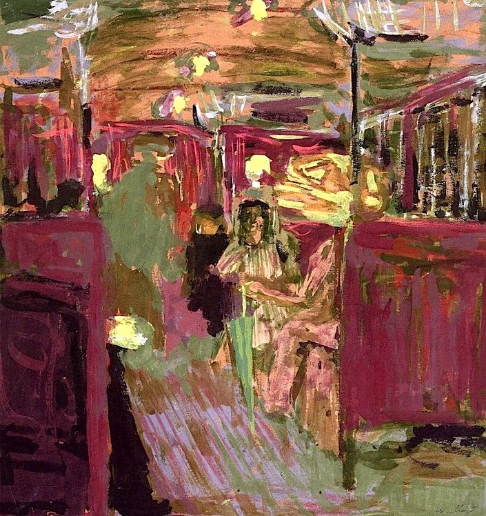 The Metro Car Edouard Vuillard - circa 1908-1909