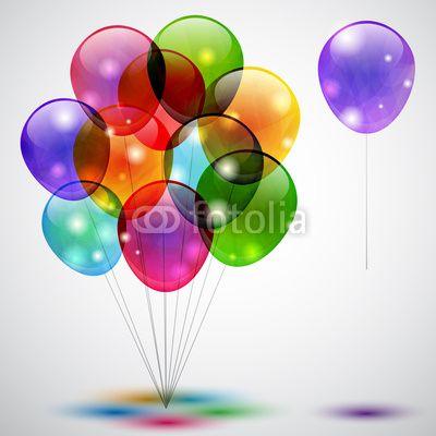 Sfondo con palloncini - Background with balloons © Mira Bavutti