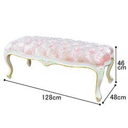 ロココ調ベンチチェアーGW かわいい姫系インテリア家具・姫系雑貨の通販|ロマプリ・ロマンティックプリンセス