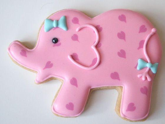 Pretty Pink Elephants Cookies to Celebrate a Baby Girl | Make Me Cake Me