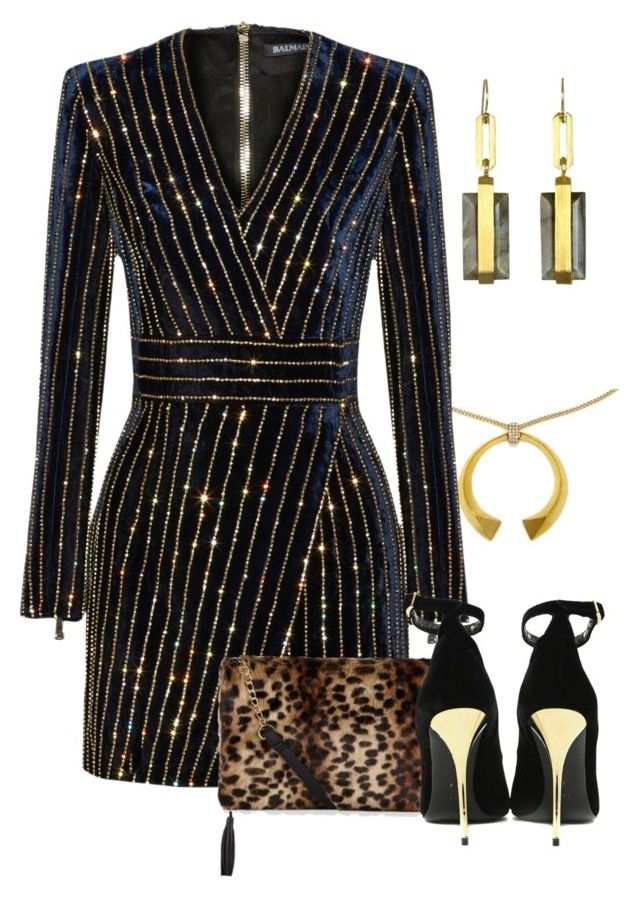 """""""Untitled #1921"""" by anfernee-131 ❤ liked on Polyvore featuring Balmain"""