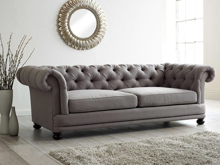 Traditional Buttoned Back Sofa