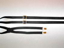 Hosenträger Leder schwarz Lederhosenträger gold