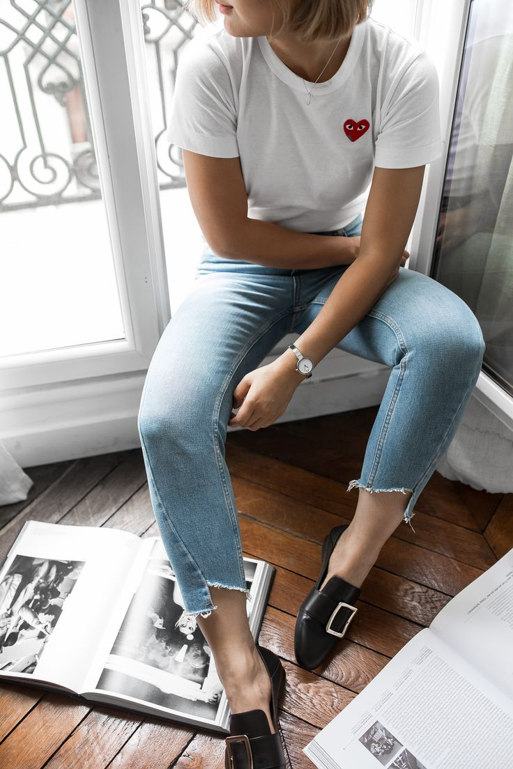 Reporting from Paris: The Time-piece Love Affair - Beige Renegade  Wearing: Comme Des Garçons T shirt, Mom Jeans, Bally Janelle Loafers