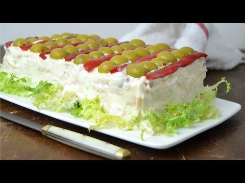 Cuuking! Recetas de cocina: Pastel frío de pollo. Receta de aprovechamiento