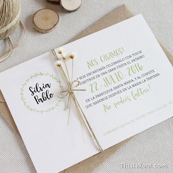 entra y descubre de boda diferentes una invitacin sencilla pero con mucho encanto