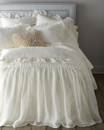 """Savannah"" Bed Linens by Pine Cone Hill  Minus the gray pillow for the guest room.  KM"