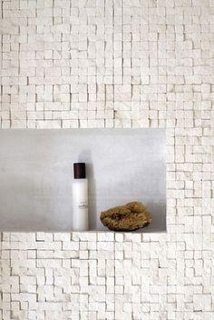 natuursteen, travertino, mozaïek, badkamer, badkamer tegels, impermo