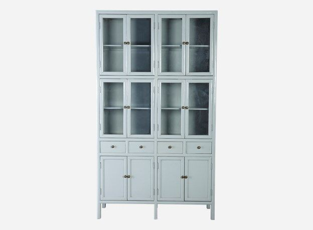 House Doctor Cf0121gr - Kabinet, Asian style, lys grå, 120x40 cm, h.: 210 cm