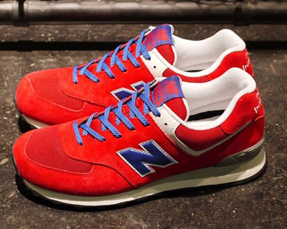new balance 574 red white and blue