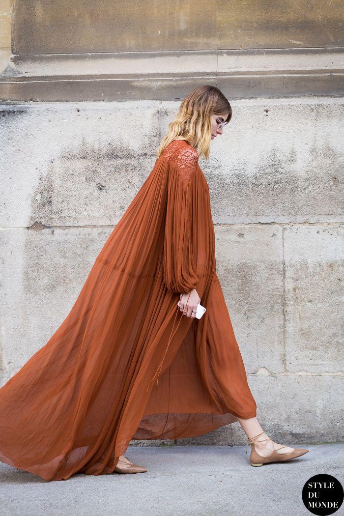 Farb- und Stilberatung mit www.farben-reich.com # Paris Fashion Week FW 2015 Street Style: Veronika Heilbrunner