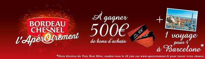 Tentez de remporter 500€ de bons d'achat en devenant Very Best Hôte du Moment Bordeau-Chesnel !