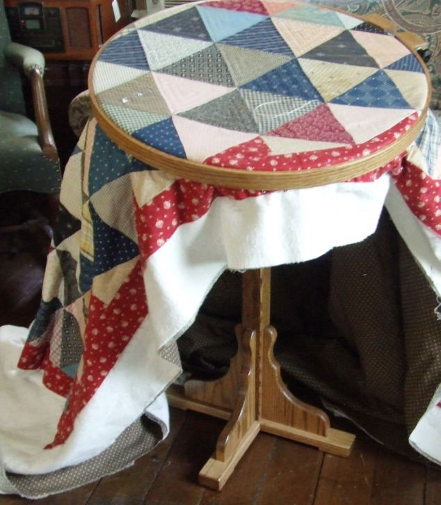 hand quilting stand | Hand Quilting Hoop/stand | Tim Latimer - Quilts etc