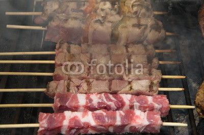 Arrosticini, typical sheep's meat