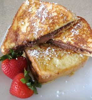 Nutella Stuffed Custard French Toast from SixSistersStuff.com. It tastes even better than it sounds!
