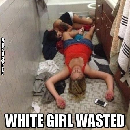 Fucking white trash girl wasted