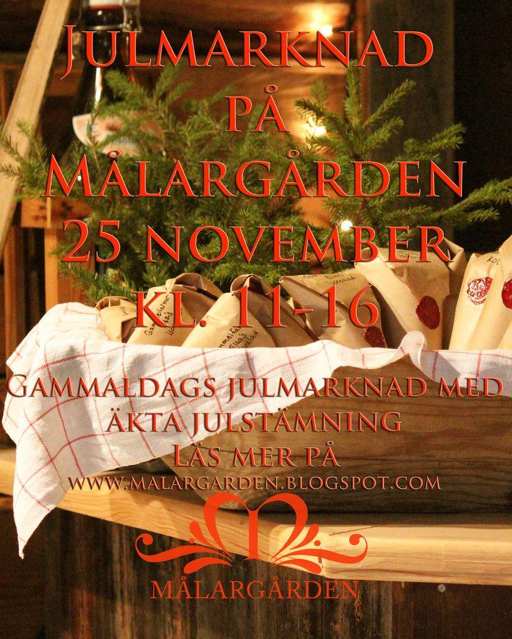 Annons inför Julmarknaden 2012