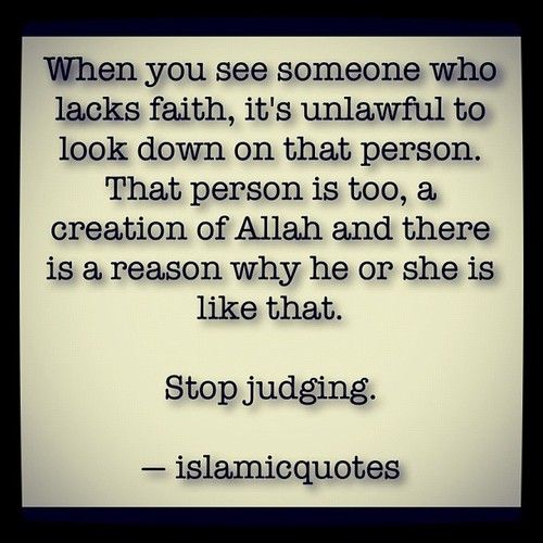 No judgements here, we are all beautiful creations of Allah....some people just haven't had the fortune of reading the Quran yet.