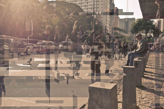 In Transit 14, a photomontage from Brazilian photographer Diego Kuffer