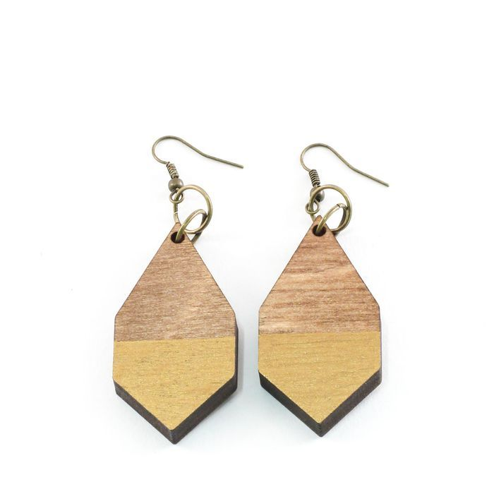 DIAMANTE gold earrings