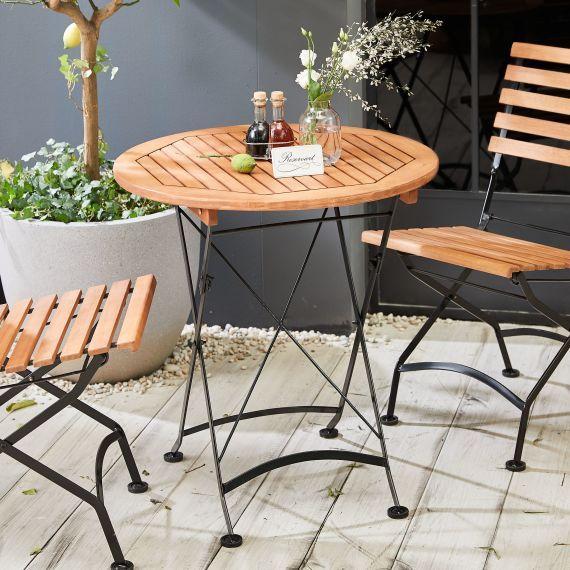 Outdoor Tisch Rund Bellagio Outdoor Tisch Platzsparender Esstisch Holztisch Ausziehbar