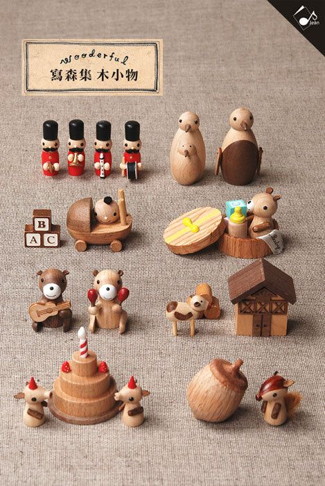 PChome Online shopping street - BaLagogo mall - Wooderful write Mori set wooden small object / complete set 8 group