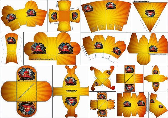 Ninjago: Cajas para Imprimir Gratis.