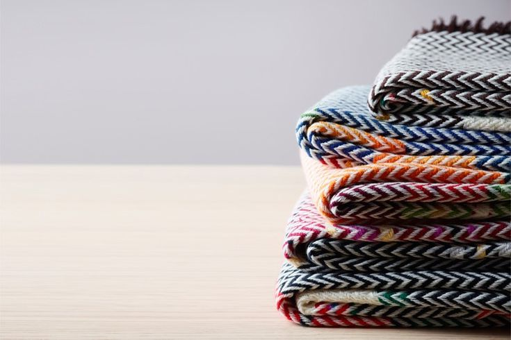 Colorful Bunad Blankets by Andreas Engesvik