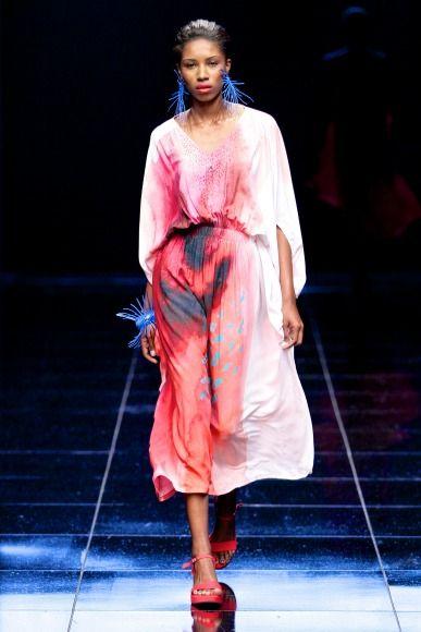 Michelle Ludek at the Mercedes-Benz Fashion Week Cape Town (SDR Photo / Simon Deiner)