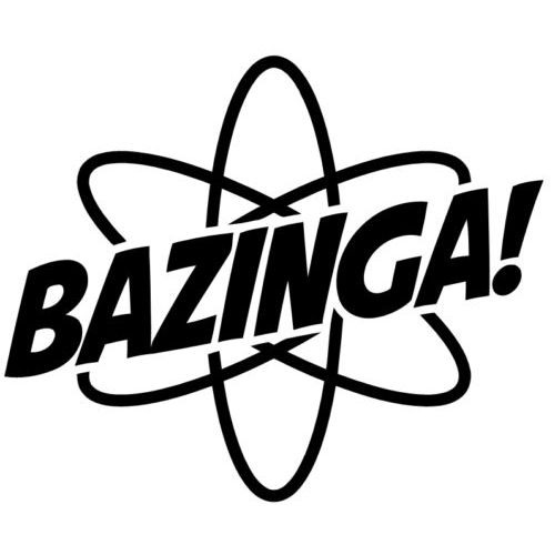 Bazinga Laptop Car Truck Vinyl Decal Window Sticker PV369