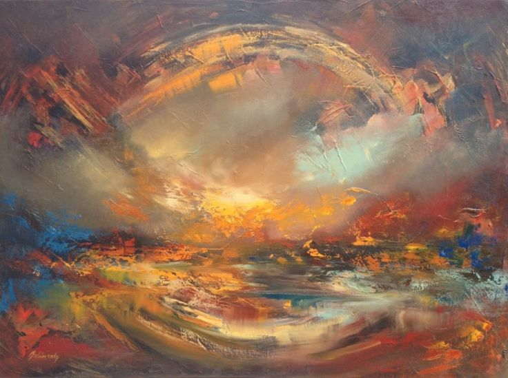 41 best My Abstract Landscape paintings images on ... Earth Painting Oil