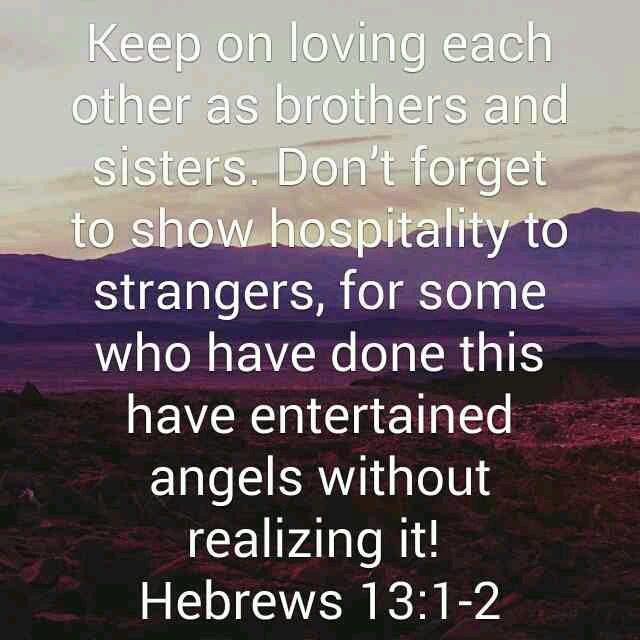 Entertaining Angels song  Hebrews 13