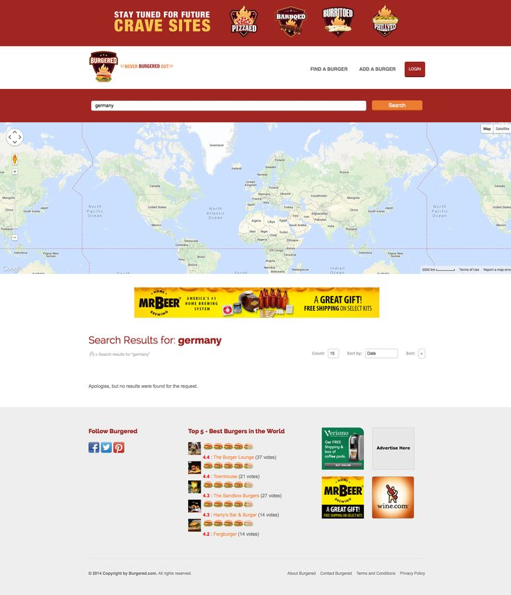 """""""Never Burgered Out"""" :) beautiful and creative idea - #AitThemes #showcase Find more info at: http://burgered.com"""