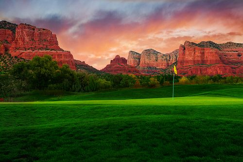 Sedona Golf Course. Beautiful Sedona. It's hard to keep your eye on the ball with so much beauty all around.