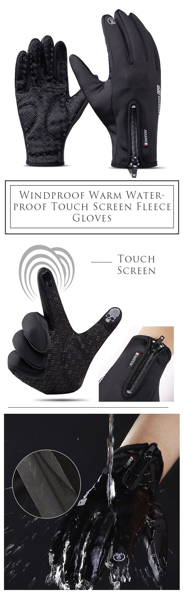 Men&Women Outdoor Gloves: Touch Screen/ Windproof /Cycling