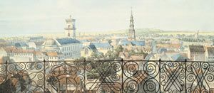 H.G.F. Holm year 1840.   The view from the the Round Tower