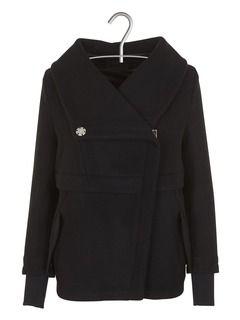 Manteau court en laine  Noir by IKKS