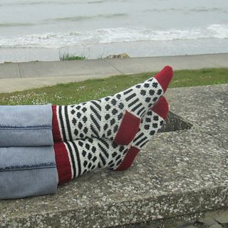 Dots and Stripes Socks by Gigi Knits - Free pattern