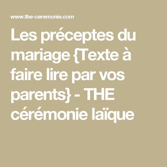 1000 ides sur le thme texte ceremonie laique sur pinterest crmonie mariages et crmonie laque mariage - Texte Remerciement Mariage Parents