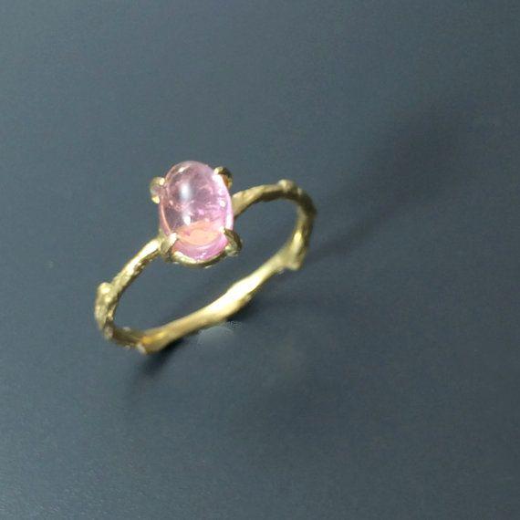 pink tourmaline ring vermeil branch ring twig ring by youzan