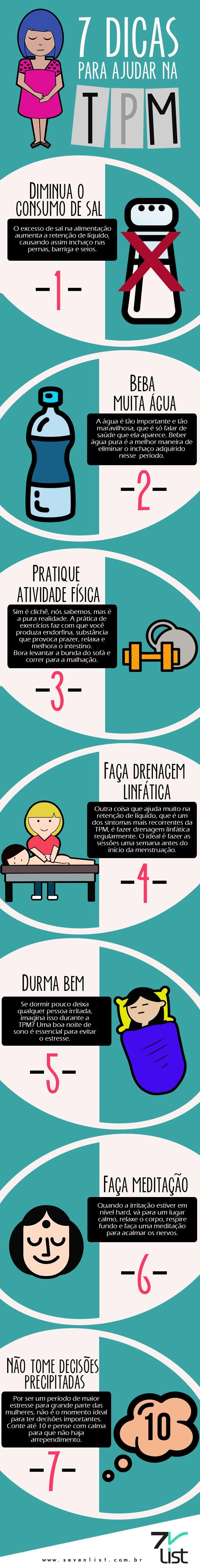 #Infográfico #Design #Art #Saúde #TPM #Alimentação #Exercícios #Lifestyle #Food #Light #Water