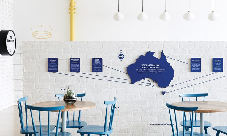 Image. The Good Fish.  http://www.swearwords.com.au/  Wall Design ideas for exhibitions.