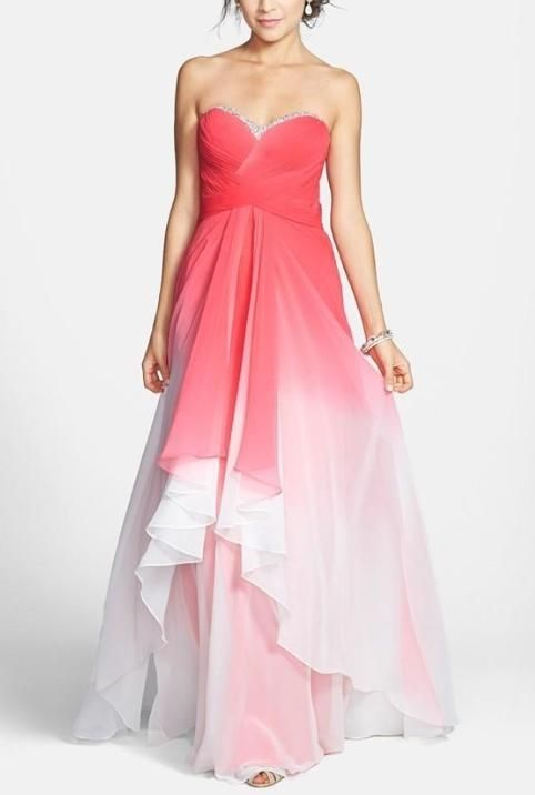 Pink ombre gown... This is perfect for prom!