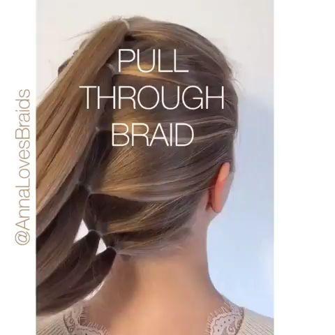 Pull through Braid❤️❤️❤️. #hairstyles #hair #haircolor #braids #braidstyles #braider #braid #braidstyles #hair #hairstyles #pullthroughbraid