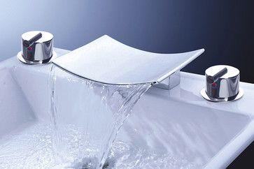 Chrome Waterfall Roman Tub Faucet - modern - bathroom faucets - sinofaucet